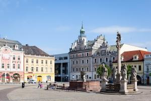 Blick zum Rathaus von Kolín.