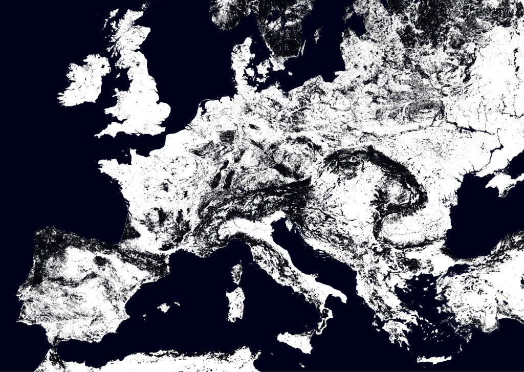 Visualisierung der Landbedeckung.